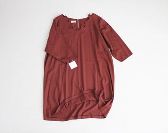 flame neckline dress | cinnamon dress | plus size dress