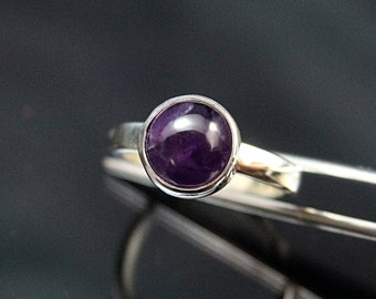 Amethyst Silver Ring Amethyst Sterling Silver Ring Amethyst  Ring Amethyst  Ring  Amethyst  purple Gemstone Ring