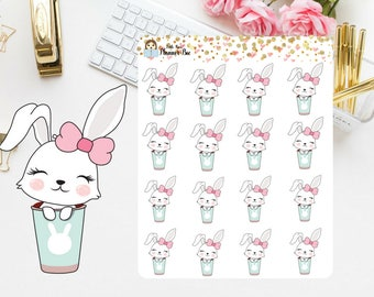 5 kinds of Bunny planner stickers