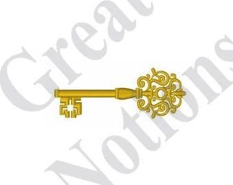 Vintage Key - Machine Embroidery Design