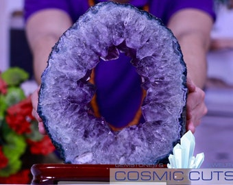 Amethyst Geode Slice With Stand 10.25 BB-24