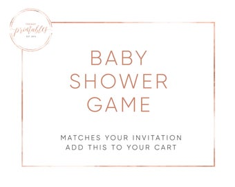Matching Games, Baby Shower, Baby Shower Invitations, Baby Shower Games, Shower Games, Baby Shower, Printable Games, Printable Shower Games