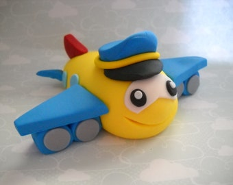 Airplane Pilot- Edible Airplane Cake Topper