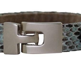 Python Bracelet, Python Cuff, BAJ 496 S Blue