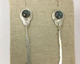 Labradorite Kinetic Earrings