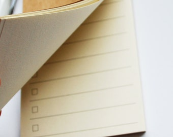 Small Kraft To Do List Notepad, Notebook, List