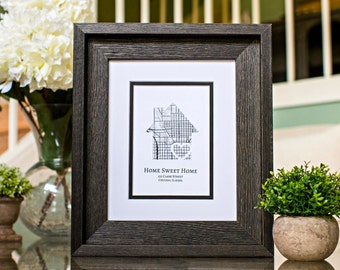 Home Sweet Home, New Home Housewarming Gift, Personalized Map, Realtor Closing Gift, New Home Gift Ideas, New Homeowners Gifts