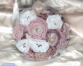 bridal bouquet, payment 10 times, fabric, bridal bouquet bridal bouquet, vintage bridal bouquet,