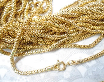 """3 Goldplated 24"""" Snake Serpentine Mesh Chains"""
