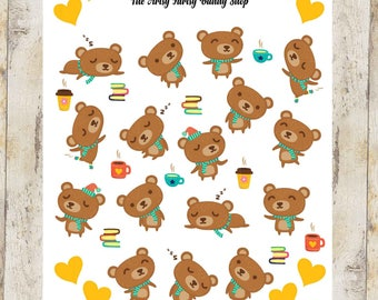 Cute Little Bear Stickers