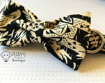 Tropical Animals Bow Tie and Collar OR Bow Tie Only *OPTIONAL