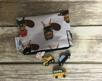 Reusable Snack Bag, Reusable Zipper Bag, Reusable Sandwich Bag, Zipper Pouch, Reusable, Camping Beaver Snack Bag, Lunch Bag, Reusable Bag