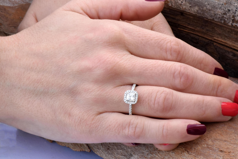 Square diamond ring-Princess cut diamond engagement ring-Diamond ...