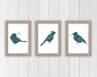 Bird Art Print | Set of Bird Art | Nursery Art | Kids Animal Art | Nursery Animal Art