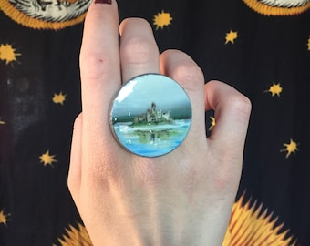Lake Stormhold Painted Ring