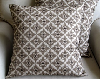 WALNUT designer fabric pillow cover 18x18 20x20 22x22 24x24 26x26