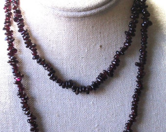 "Natural Amethyst 34"" Necklace"