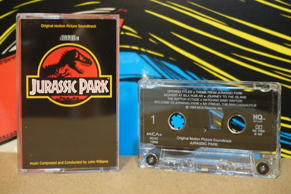 Jurassic Park (Original Motion Picture Soundtrack) by John Williams Vintage Cassette Tape