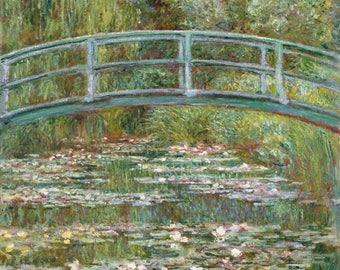 Bridge over a Pond of Water Lilies (Artist: Claude Monet) c. 1899 - Masterpiece Classic (Art Print - Multiple Sizes Available)