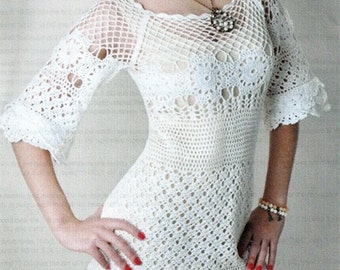 Crocheted Flowers & Lace Dress/Tunic - Made to Order