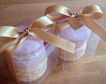 Beautiful French Macarons favour box for weddings and events