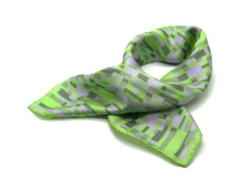 Field Trip Silk Scarf Head Scarf with Rolled Edges Gift For Women Gift For Wife Gift For Sister