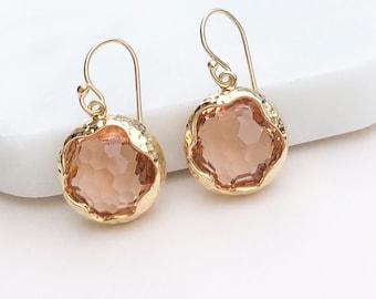 Peach Blush Earrings