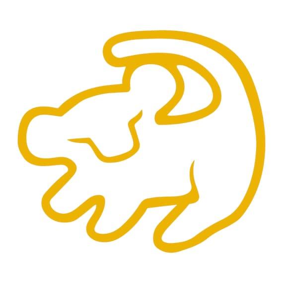 König Simba Symbol der Löwen Disney Aufkleber Aufkleber Auto