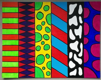 Colourful Op Art Painting