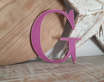 Wooden Letter G - painted and distressed - letter art, interior decor, 15cm