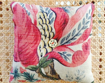 Vintage Tree of Life Linen sachet cushion filled with fragrant lavender