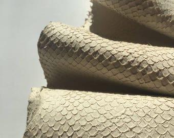 Salmon Leather -Cream