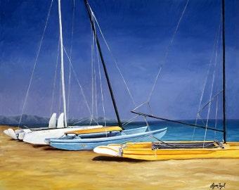 Catamaran boat art, boat decor, nautical prints, boat art, Nautical art, boat prints, nautical wall decor, boating gifts, sail boat