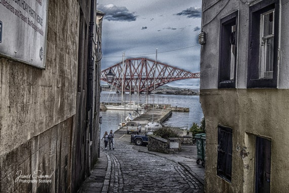 Edinburgh Digital Download,Forth Bridge, Landscape Photography, scottish prints, wall art, fine art photography, river, scottish photography