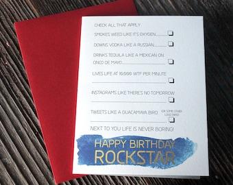 Happy Birthday Rockstar
