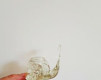 Schnecke Figur Klarglas Figur Terrarium Figur Schnecke sammeln Aquarium Dekor Sammler Glas Kunst transparente Figur Meer Wohnkultur