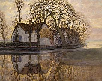 Piet Mondriaan boerderij in de buurt van Duivendrecht, 1916
