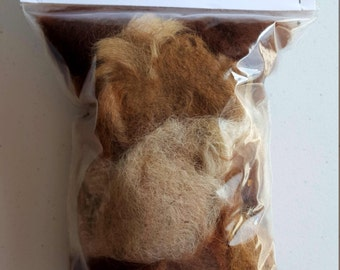 2oz  100% Alpaca  fiber for Bird Nesting Balls