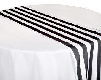 Black Striped Tables Runner, 12 Black Striped Table Runner, Kate Spade, Black  Striped Table, Black And White Table Runner, Halloween Decor,