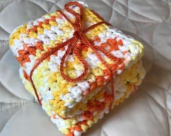 Orange Sorbet Cotton Cloth (Set of 3)