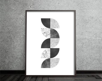 Modern Art Print, Geometric, Abstract, Art, Poster, Mid Century Modern, Minimalist, Contemporary