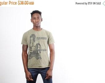 Closing SALE 55%  - 80s Rambo T-Shirt - Sylvester Stallone T Shirt - Vintage Rambo Film T Shirt - 2138