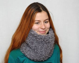 Travel gift Knit chunky cowl womens scarves Neck warmer Chunky cowl scarf womens cowl fur winter accessories warm wool cowl womens gifts