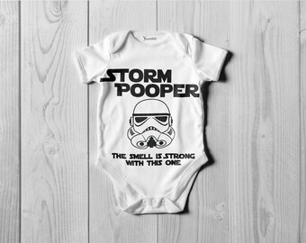 Storm Pooper Onesie The smell is strong with this one! Bodysuit or T-Shirt
