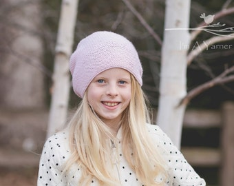 Pink Slouchy Hat, Womens Knitted Beanie, Knit Hat, Womens March, Adult Slouch Beanie, Lightweight Hat, Winter Hat, Feminist Hat, Washington