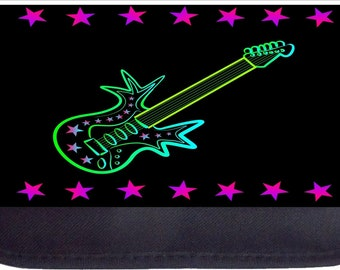 Rockstar Guitar  - Black Pencil Bag - Pencil Case