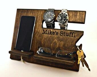 Desk Organizer, Organizer for Men, Men Organizer, Desk Organization, Mens Desk, Men Wood Organizer, Men Desk Organizer