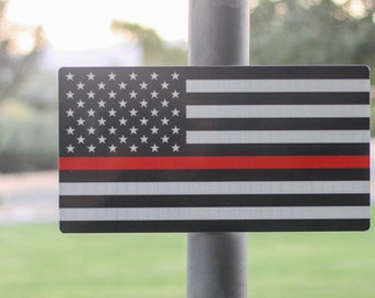 Thin Red Line Street Sign