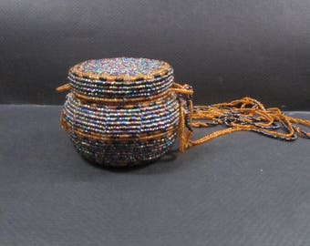 round beaded purse