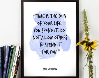 Carl Sandburg, Carl Sandburg Quote, Carl Sandburg Art, Watercolor Art, Watercolor Quote, Wall art quote, Motivational quote, Inspirational.